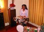 Playing Isaah's drums Christmas 2004